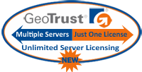 GeoTrust SSL  Certificates Come With Unlimited Server Licensing