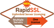 RapidSSL  Certificates Include Unlimited Server License