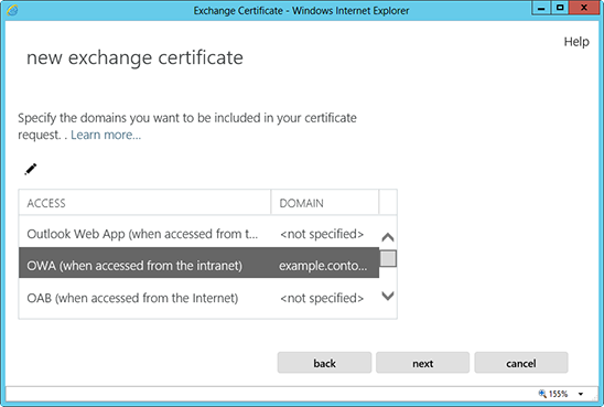 Microsoft Exchange 2013 CSR Creation Step 7