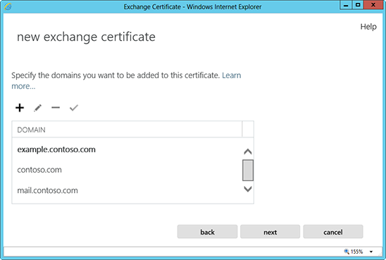 Microsoft Exchange 2013 CSR Creation Step 8