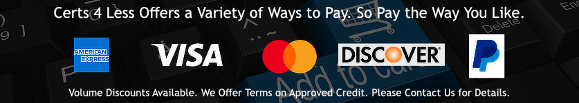 Buy Code Signing Certificate Using Major Credit Cards: Visa, MasterCard, AMEX, Discover,  PayPal, JCB, UnionPay, BC Card. Volume Discounts Available