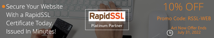 Certs 4 Less Is Offering 20% Off RapidSSL Certificates For The Month of December