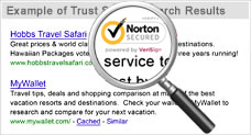 Norton Secured Seal in Search Results