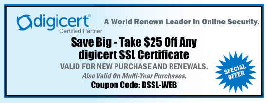 $25 off Coupon for Symantec SSL Certificates - Coupon  Code is Valid till 9/30/2019- PROMO CODE: SSSL-WEB