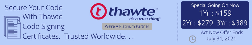 Save Money On Thawte Code Signing Certificates