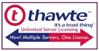 Thawte SSL Web Server Certificates Now Come With Unlimited Web Server Licensing